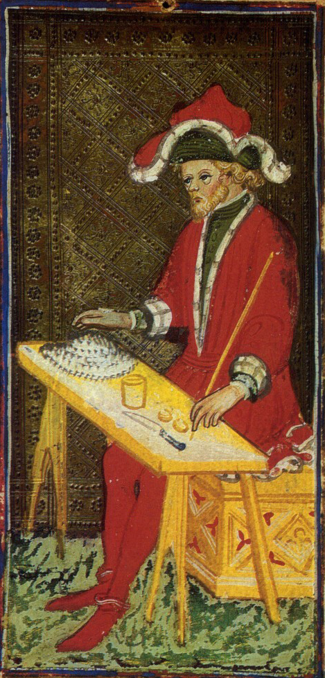 The seated  Magician  of the  Visconti-Sforza Tarot