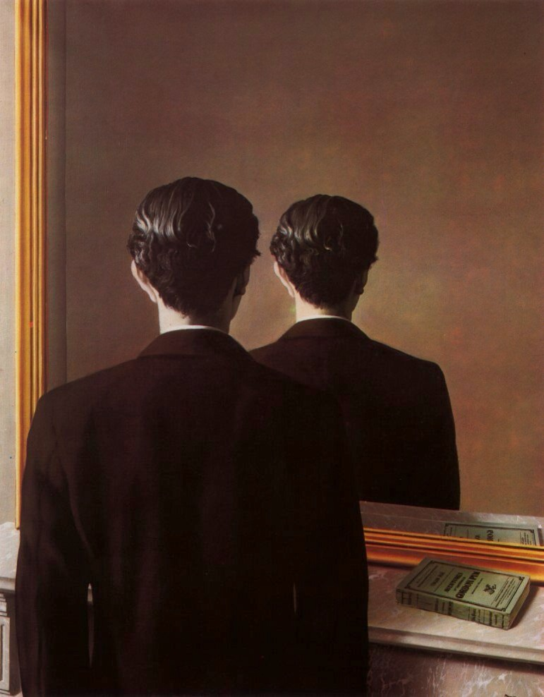 Not to be Reproduced  by Rene Magritte, 1937, one of the visual inspirations for our  Magician