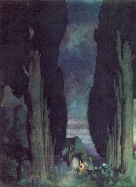 "The Edmund Dulac illustration of ""Ulalume."""