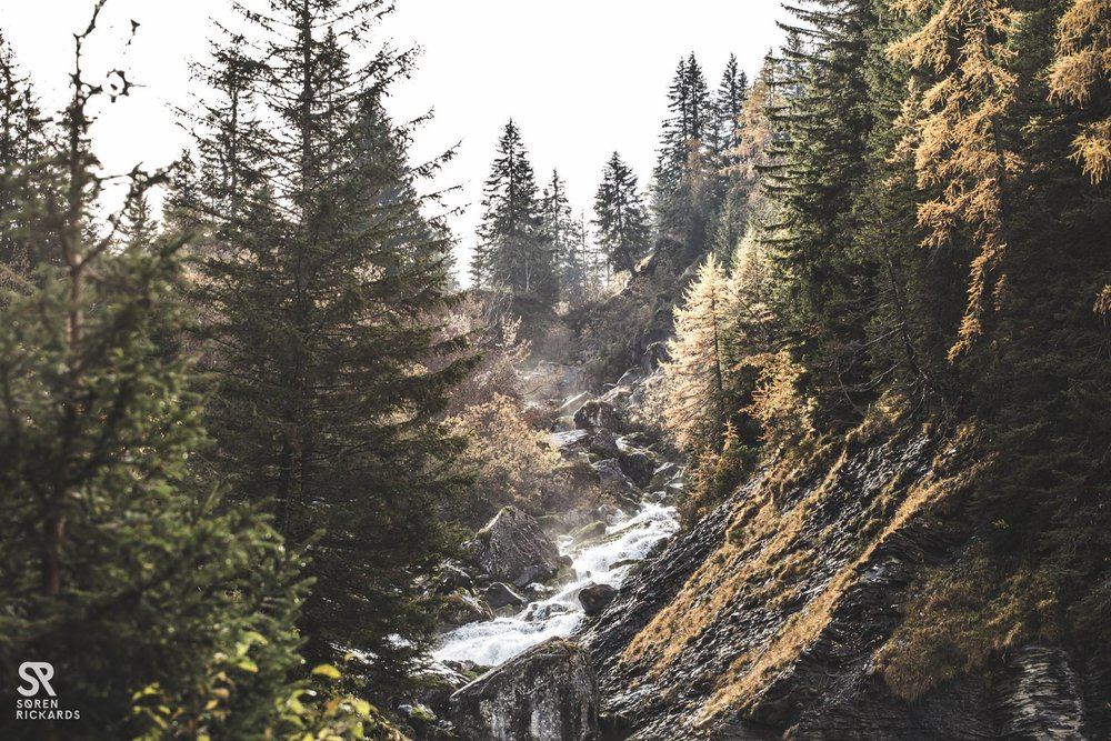 Remote mountain passes; roaring meltwater falls. -