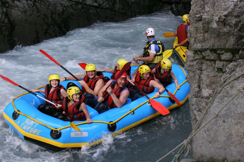 Rafting at Gorges des Tines