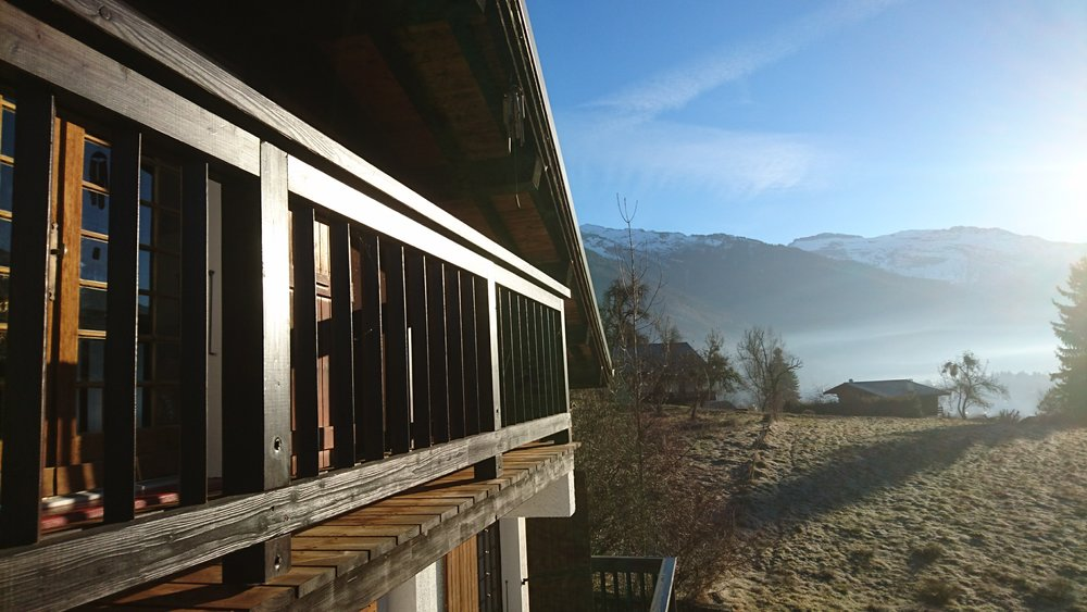 Three south-facing balconies