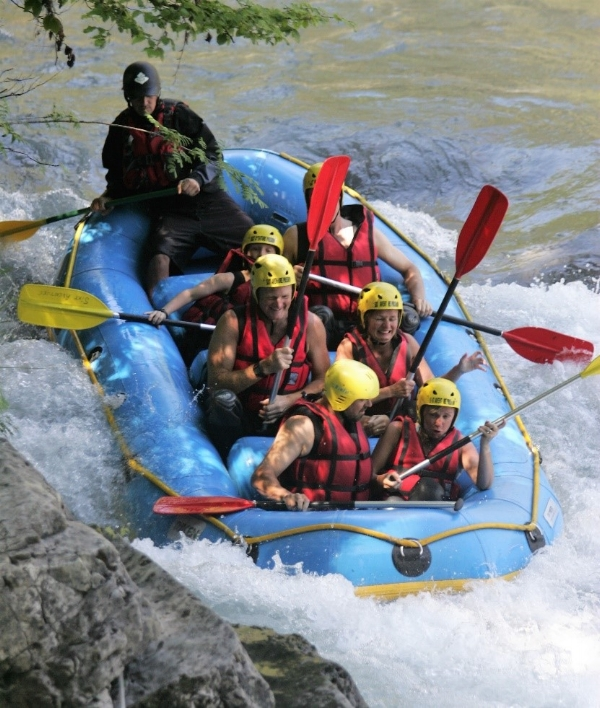 White water rafting on the River Giffre