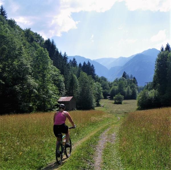 Mountain Biking through the meadows