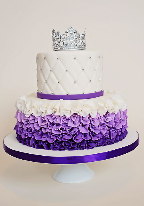 Purple White The Cake Fairy