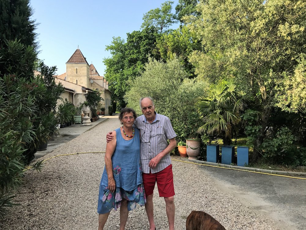 Our friends Florence and Robert at Chateau Continot