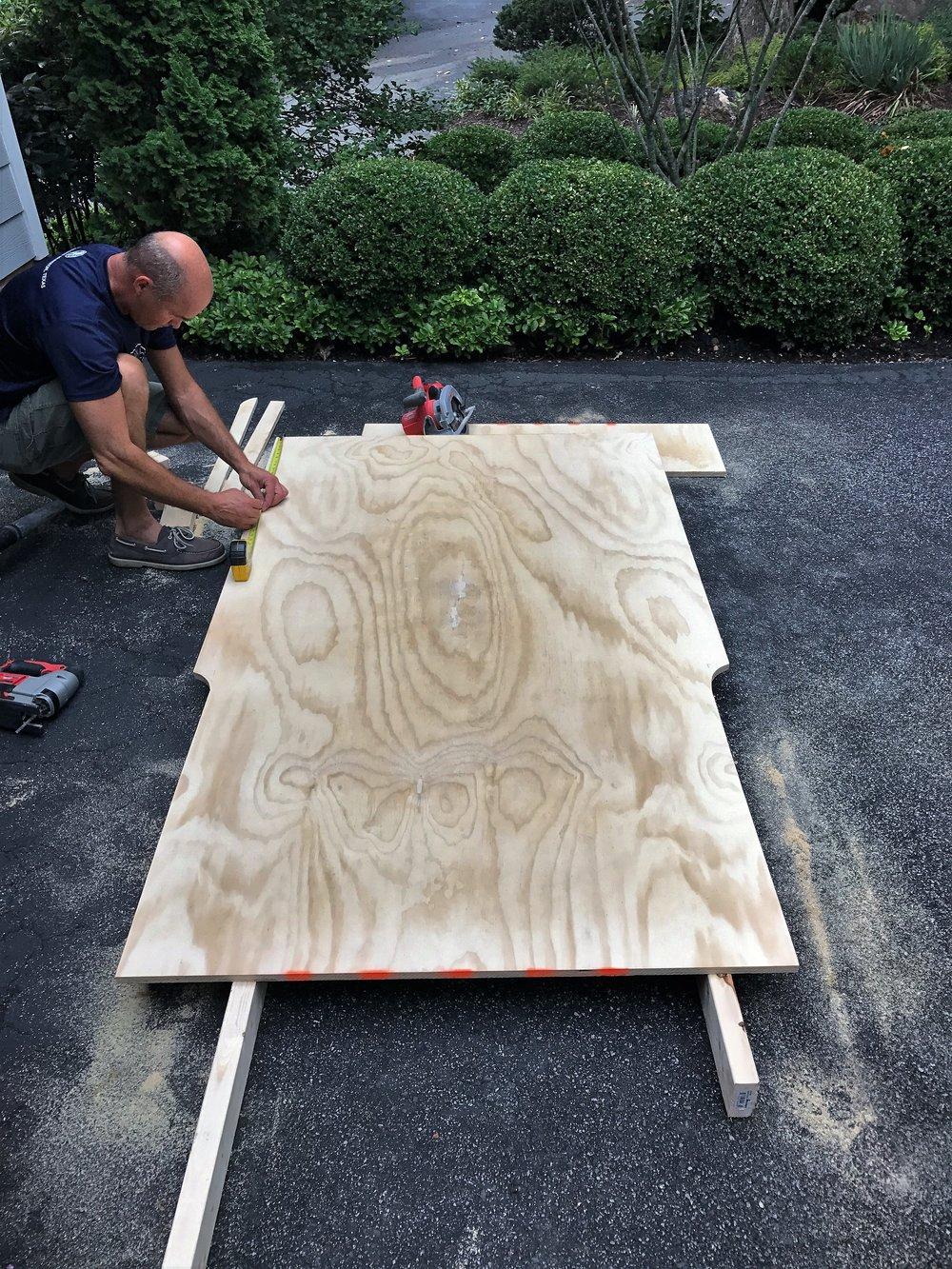 Cutting our platform shape