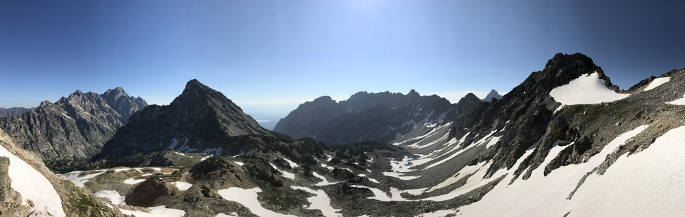 Our panoramic view from the top of Paintbrush Divide