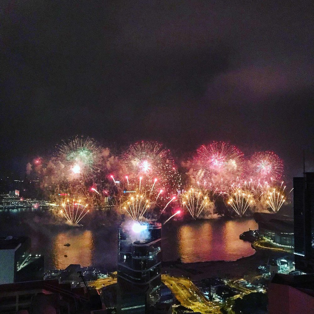NYE Fireworks in HK