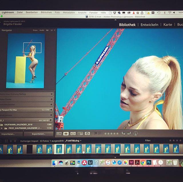 Ein kleiner Schärfetest zwischendurch... #fashionmodel #kaufmannkran #yellowblue #baustelle  danke @brigittefaessler @alexxlexxi @blox99 @mannnien