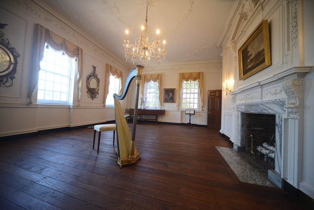 The concert space at Powel House