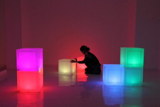 Media Bock Chair by teamLab