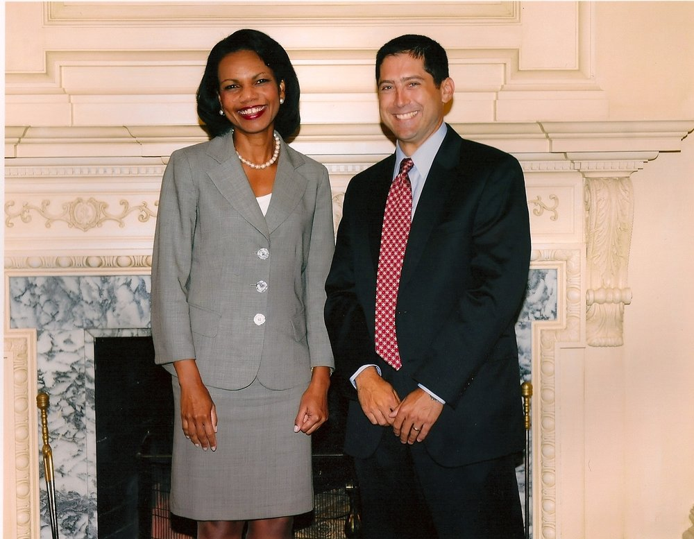 Secretary Condoleezza Rice and Todd.