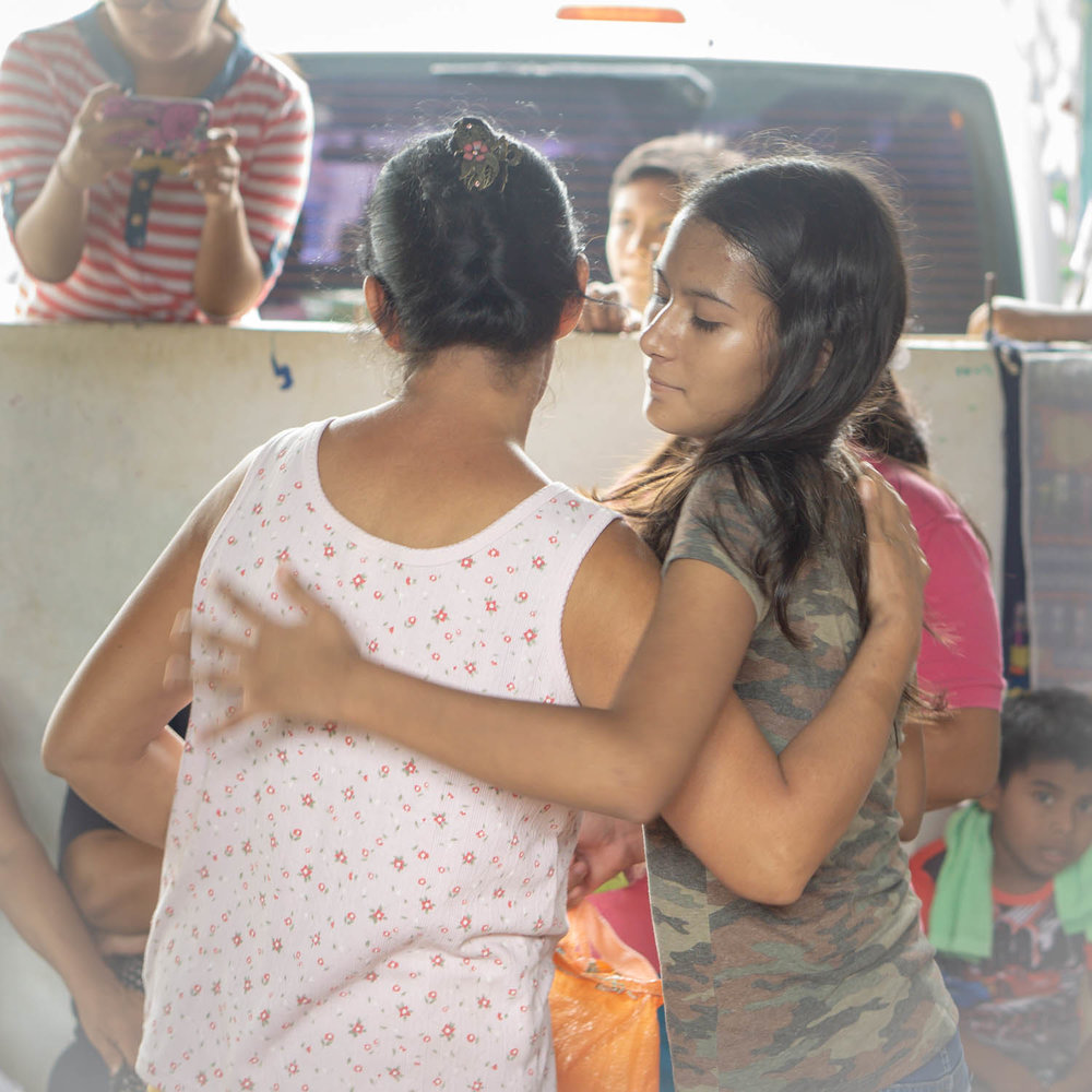 There was a strong sense of community and knowing that we were there for each other. The hugs seemed more important than pictures this day. Nicaragua is nearly four months into a political and socio-economic crisis,