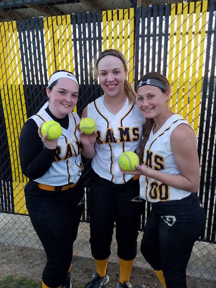 MOLLY ROONEY, ELLIE SNETSELAAR, ABBI CATALDO   SE Rams 14u Black   4/22/17