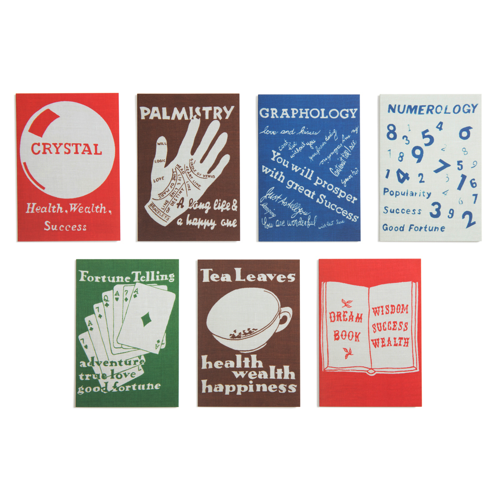Fortune Telling  Note Cards   Set of 14, 7 designs, 4 x 5 in.
