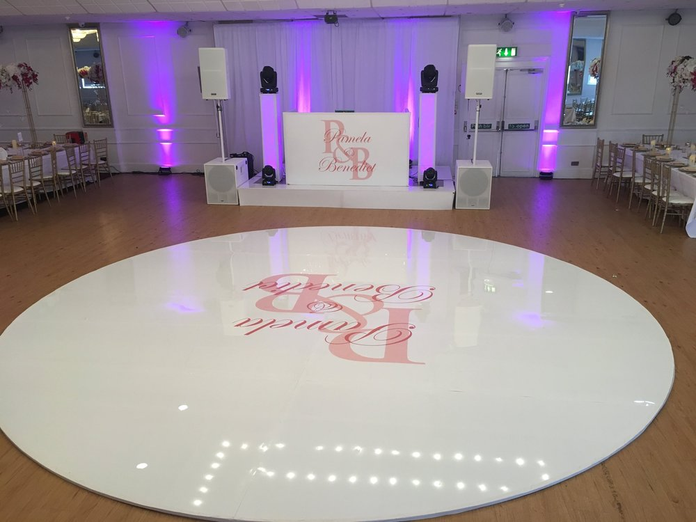 PureSound Equipment Hire - High quality equipment for hire (available to individuals and vendors). We have an extensive range availble of Seamless or LED Dance Floors, Stage Hire, Stage Wrapping, Monogram Design/Monogram Print, Wash Lights, and many more.