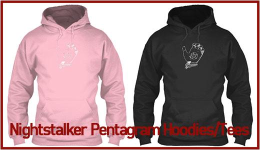 nightstalker pentagram hoodies