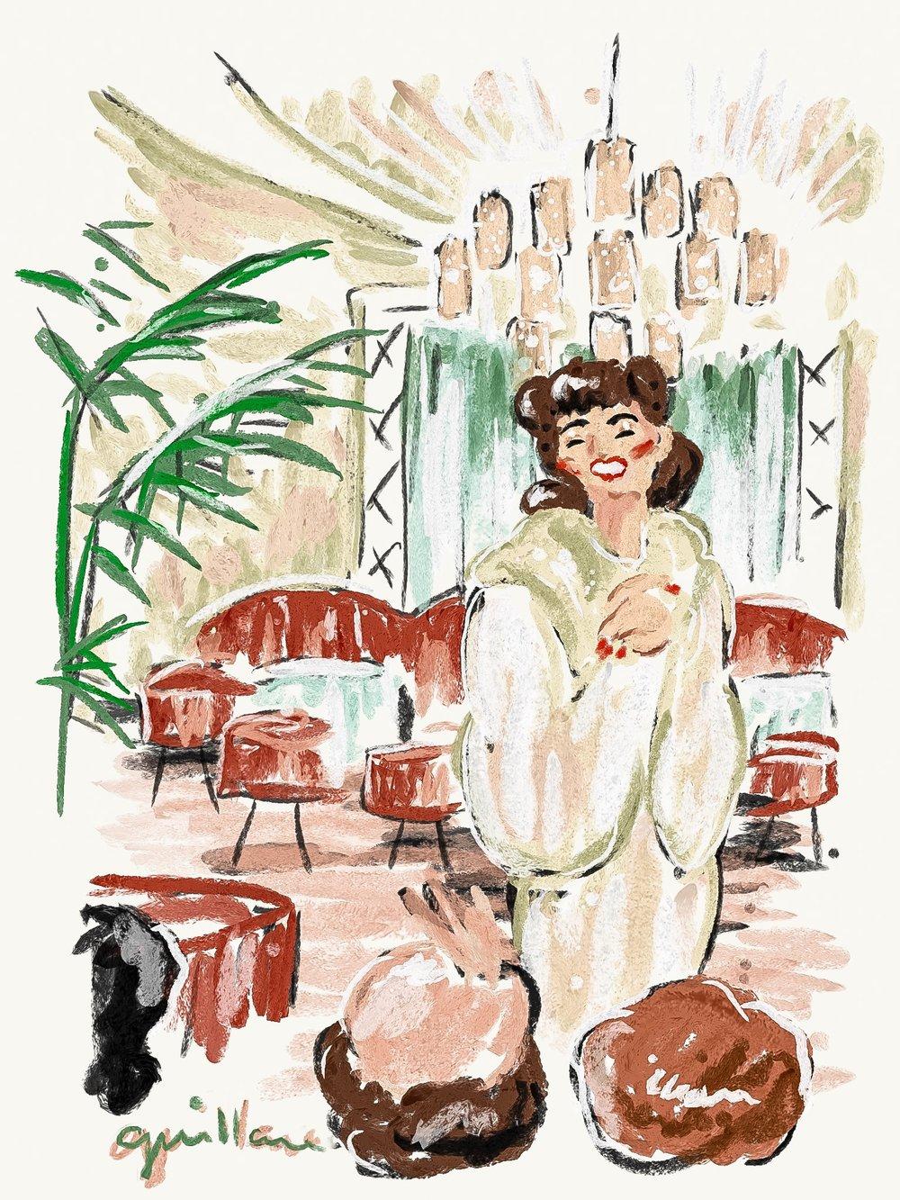 Joan Crawford at Perino