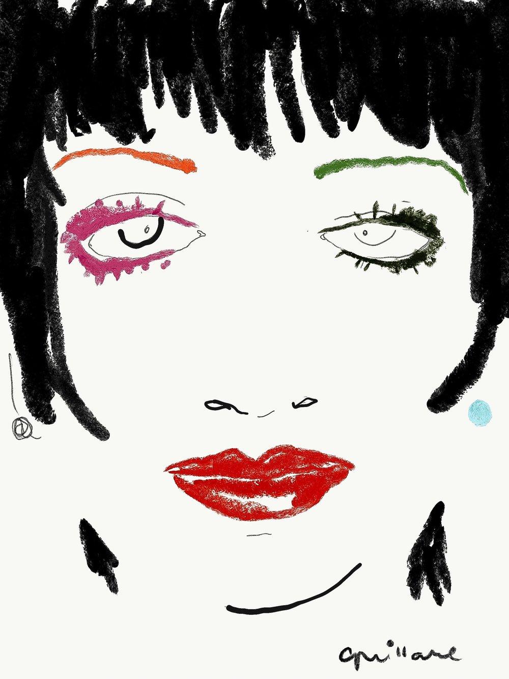 Crayoncature: Liza Minnelli