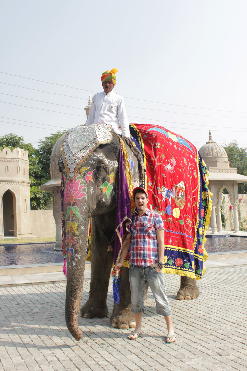 Our local model Nelly the elephant, and me (Jaipur, India).