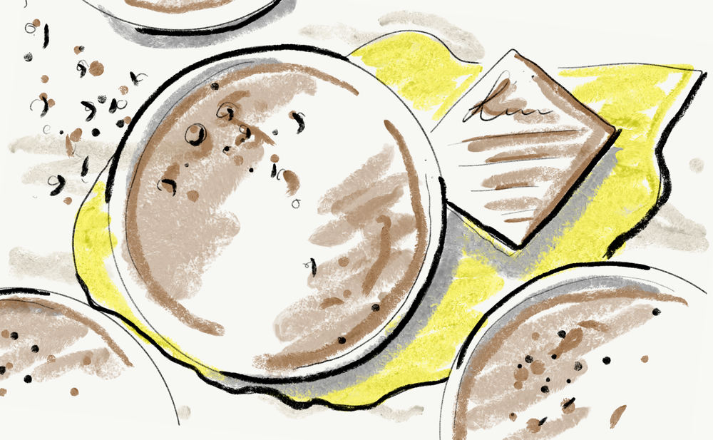 My concept sketch for breakfast chia pudding.