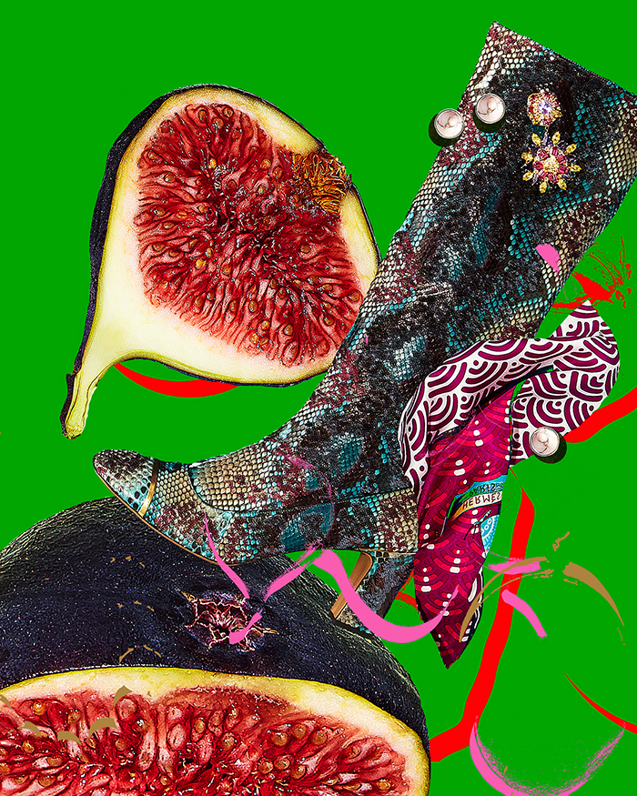 Guillaume Brière - Creative Director and Art Director - Art, Collage, Illustration and Drawings - Fashion, Beauty, Portrait, GIF, , colour, graphic design, fruit, food, shoes, fashion, gif