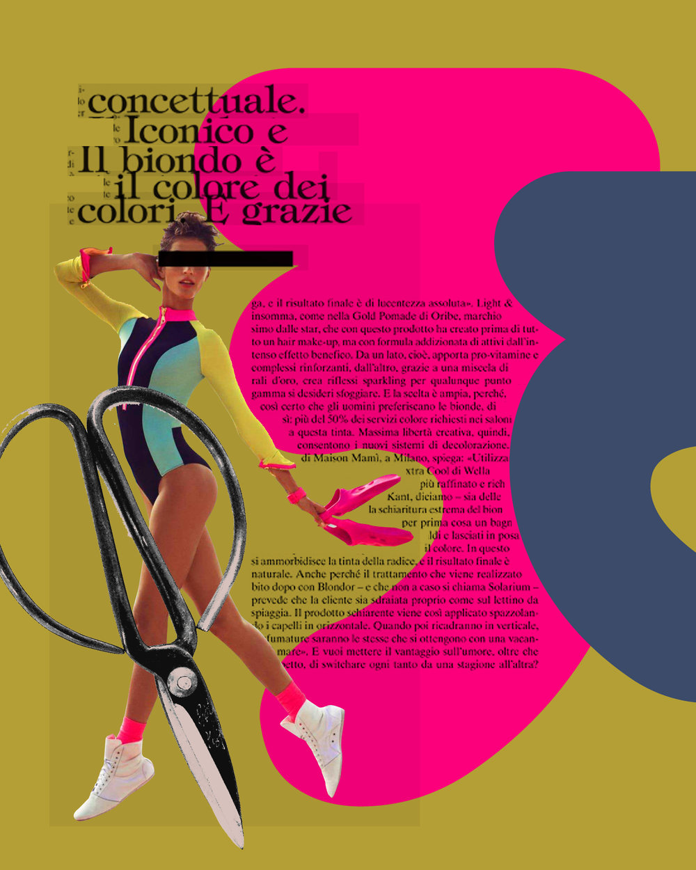 Guillaume Brière - Creative Director and Art Director - Art, Collage, Illustration and Drawings - Fashion, Beauty, Portrait, GIF, colours