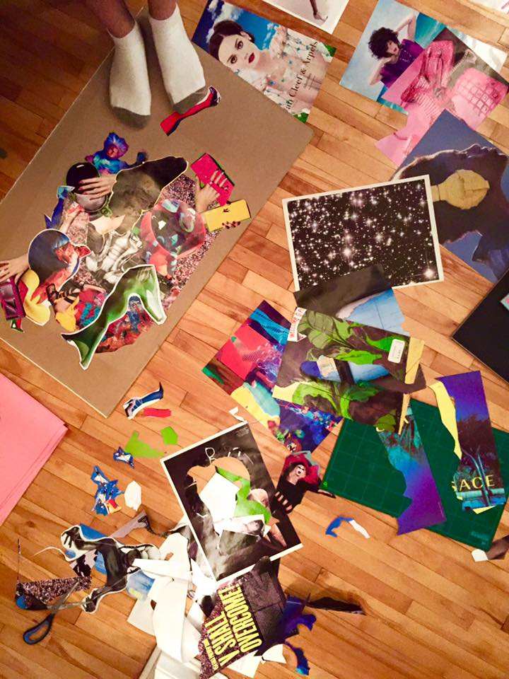 Collage is messy