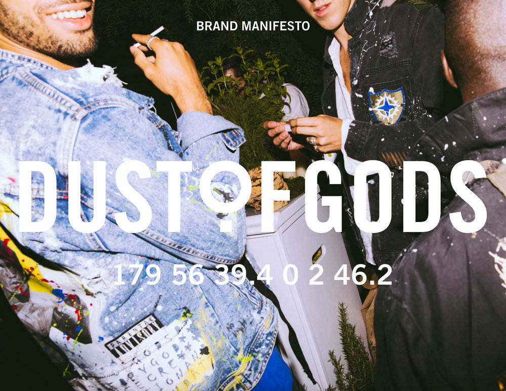 Luxury streetwear brand Dust of Gods logo and brand assets by Montreal/Toronto-based Creative Director Guillaume Briere