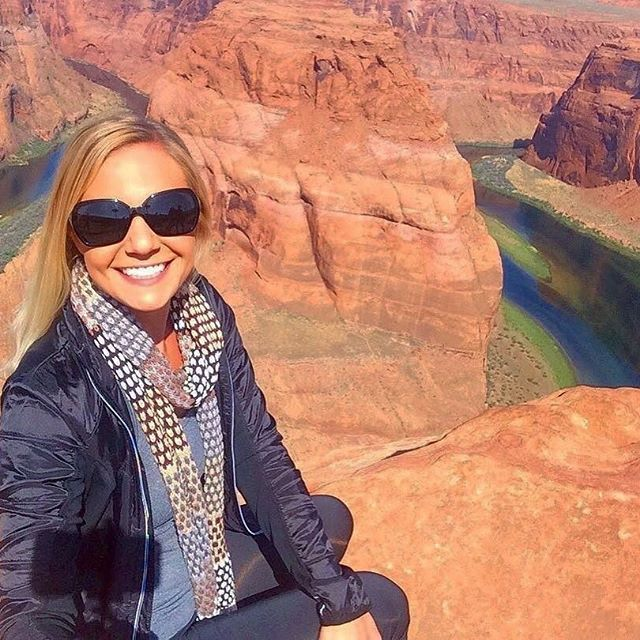 """What is your first solo trip? Love photo here from her first solo trip to the Grand Canyon! @maxpankow . """"I can still feel the tear on my cheek and fullness in my heart watching the sunrise over the South Rim 💓 'You are capable of so much more than you could ever imagine.' So many amazing things have unfolded from taking this first step. Whatever crazy idea you're after, go after it! I promise, you won't regret it. . . . . #dreamchaser  #horseshoebend #travelle #travellenow #womeninwanderlust #dametraveler #solotraveler #whoruntheworld #stayandwander #wanderlust #womenoftheworld  #travel  #traveladdict  #travelgram  #travelingphotography  #traveltheworld  #traveltips  #wheretonext #worldcaptures #passionpassport  #femmetravel #solofemaletraveler  #femalesolotravel #wearetravelles #travelwomen #citizenfemme #thegoodlife #exploremore #wander"""