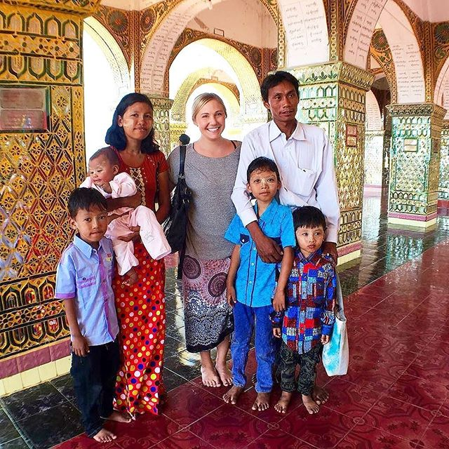 """When traveling its easy to forget your the tourist. When the locals ask for a picture with you and catch you off guard its quite a surprise. @maxpankow here had a family of six in the Burmese temples. . """"မဂလာပါ, ming-guh-la-ba, hello 🙋🏼We may not speak the same language but a smile is always universal. I have a feeling there's going to be a lot of smiles over here, especially after watching my friend get peed on by this baby. This family wanted a photo because I look so 'different' from them. It's crazy to think how easily we can see the world from our smart phones. I can't imagine what they must be thinking right now."""" . . . . . #myanmar #burma #mandalay #travelle #travellenow #womeninwanderlust #dametraveler #solotraveler #whoruntheworld #stayandwander #wanderlust #womenoftheworld  #travel  #traveladdict  #travelgram  #travelingphotography  #traveltheworld  #traveltips  #wheretonext #worldcaptures #passionpassport  #femmetravel #solofemaletraveler  #femalesolotravel #wearetravelles #travelwomen #citizenfemme #thegoodlife #nomad #discovery"""
