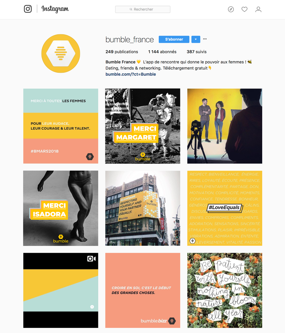 bumble instagram