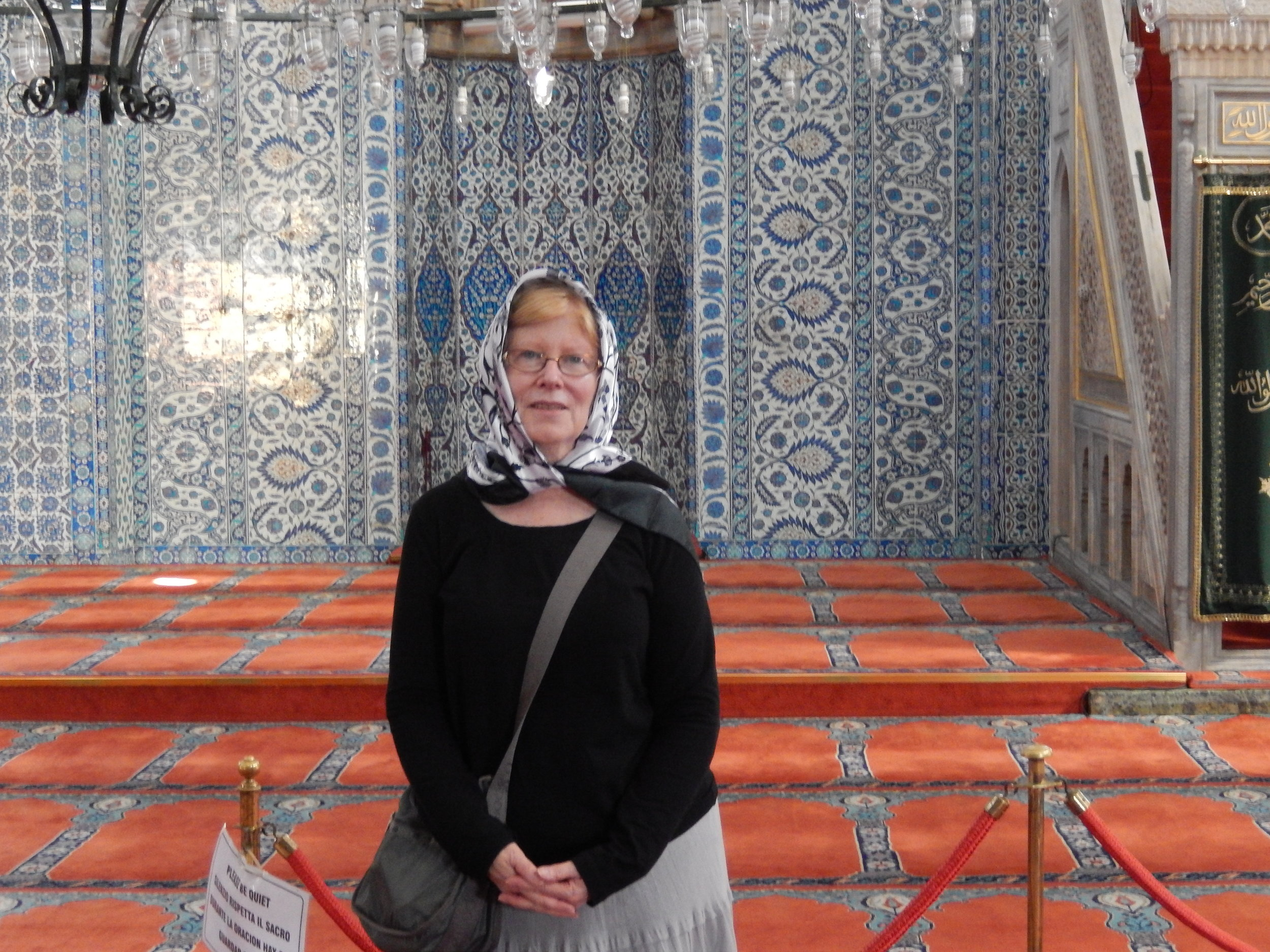 J inside blue mosque