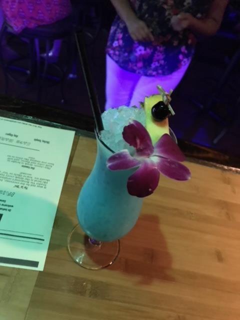 The Blue Hawaiian really hits the spot