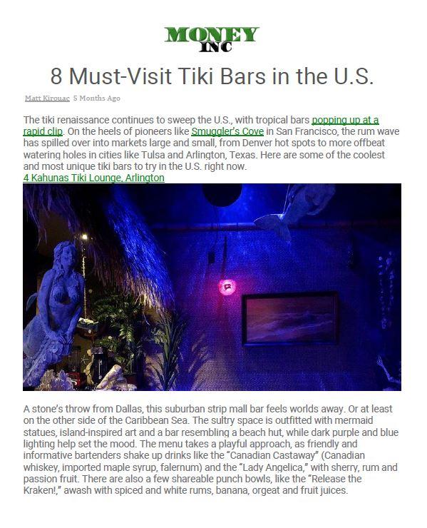 Money, Inc.'s 8 Must-Visit Tiki Bars in the U.S.