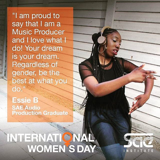 #HappyInternationalWomensDay 🙂🙂🙂 Thank you for featuring me @sae_institute_uk!  Repost from @sae_institute_uk Today we are celebrating @internationalwomensday_global and the amazing female talent at SAE. We interviewed students from all of our creative disciplines to get their thoughts on gender equality in the arts. Click our bio to read our full interview and don't forget to tune into our live DJ stream at 1pm later on our Facebook page with @djmisskiff @jemma.disorder and @meghan_stone_ . . . . . . . . . . . . . . . . . . . . #iwd2019 #internationalwomensday #womeninart #WomenMakeMusic #genderequality #artist #creative #celebrate #talent #EssieBMusic #MusicProducer #NormalNotNovelty #NotYourAverageBeatMaker