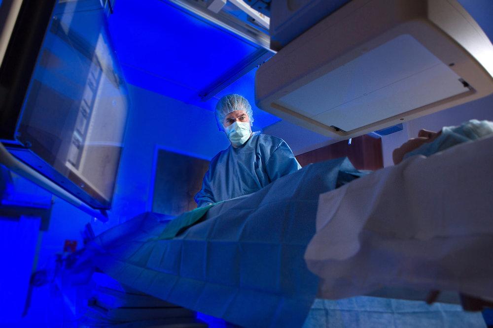 Doctor in a procedure room