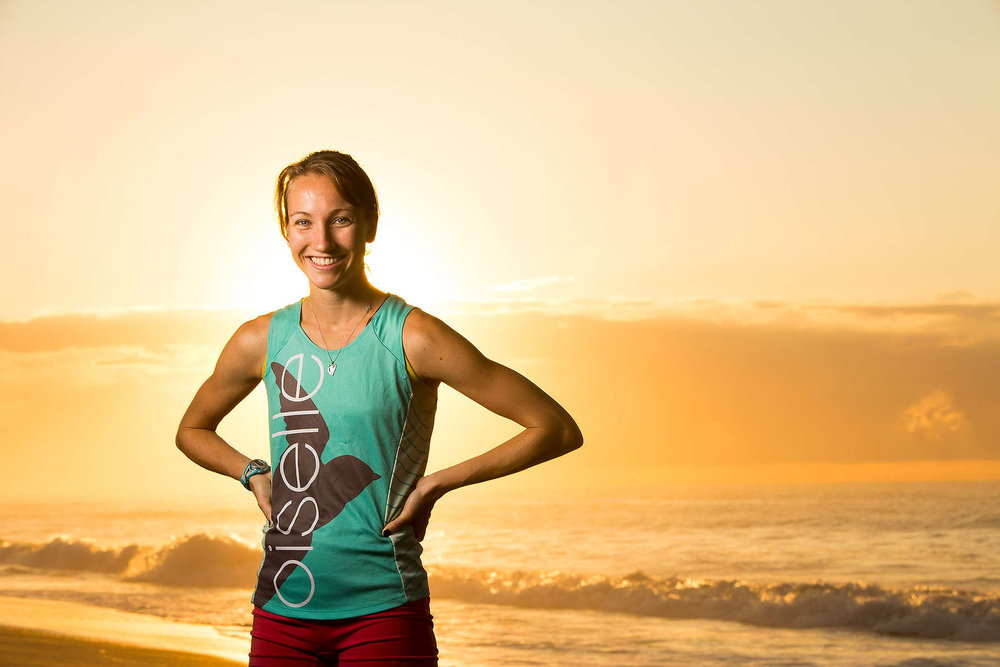 Sunrise portrait of a runner
