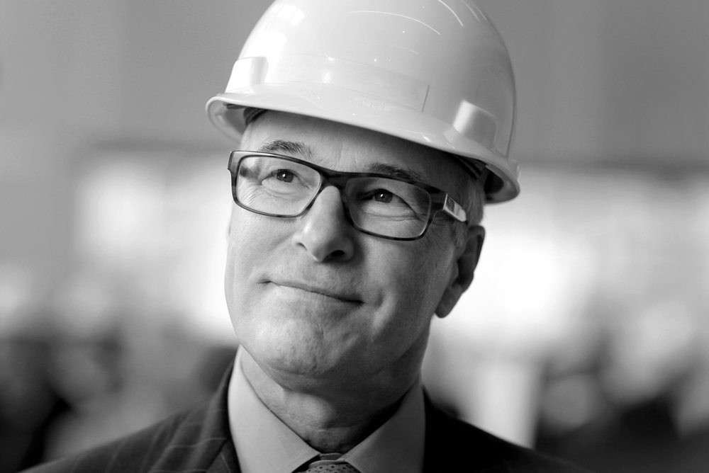 Portrait of construction executive