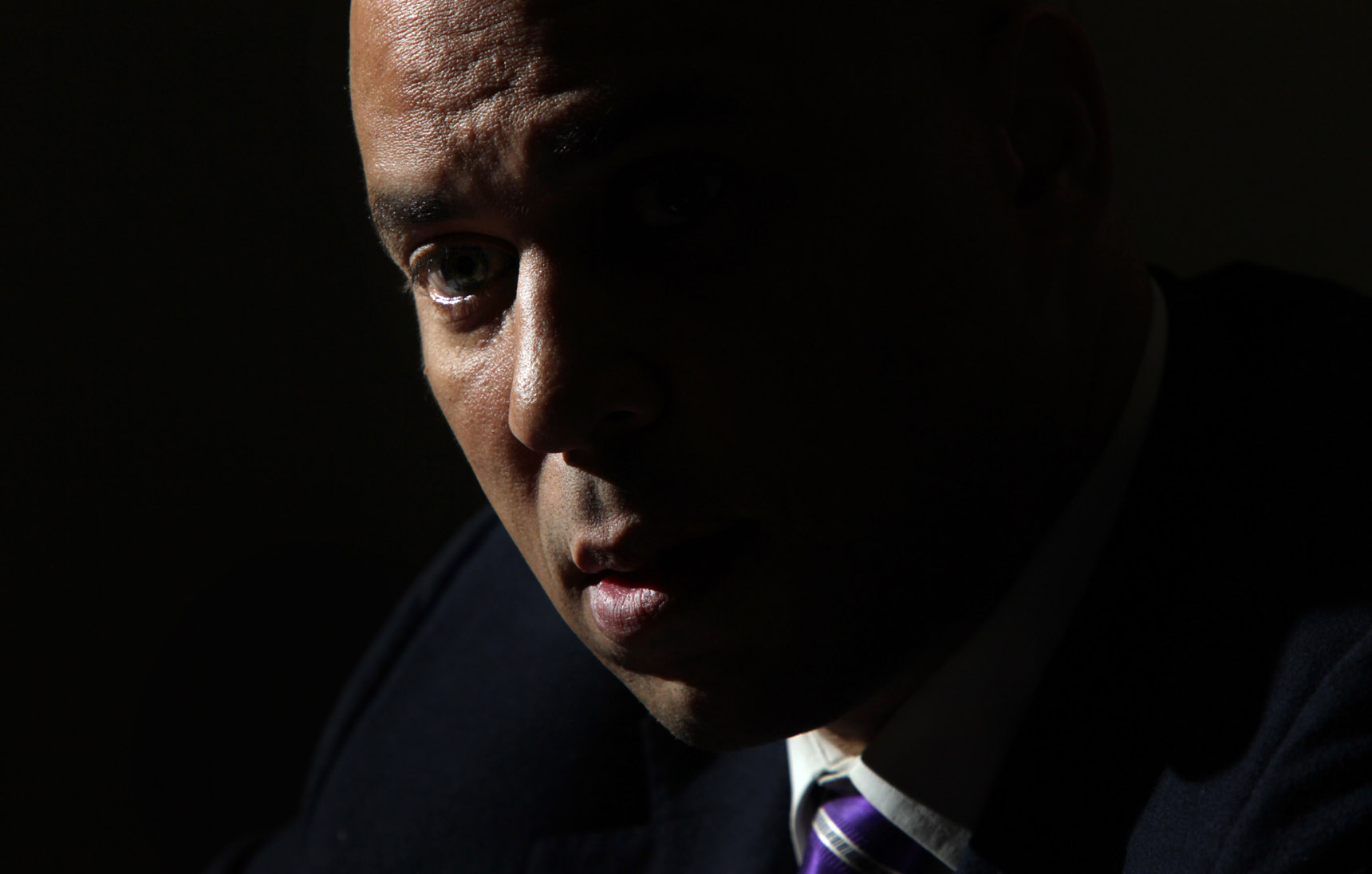 Editorial portrait of Cory Booker