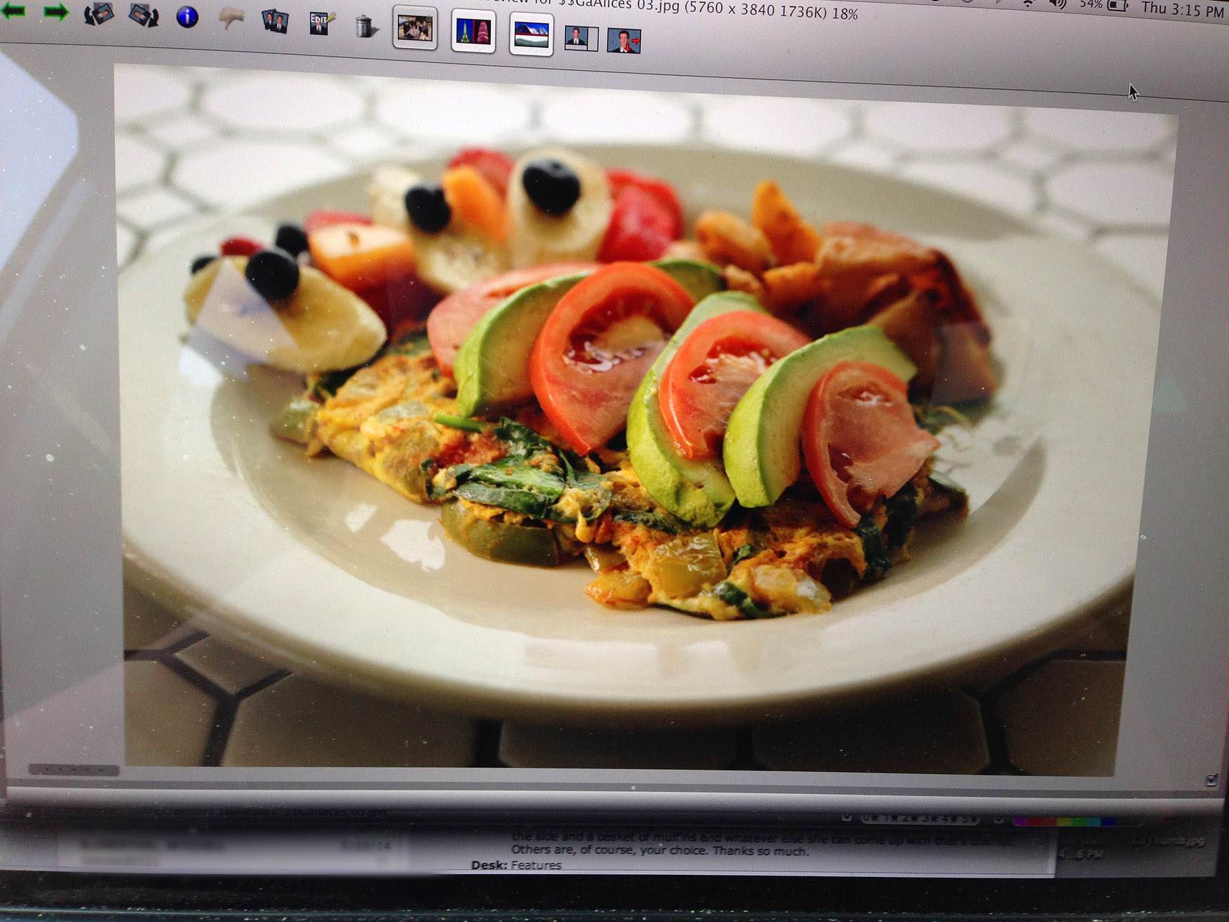 An omlete photographed at a restaurant in Sea Bright, New Jersey