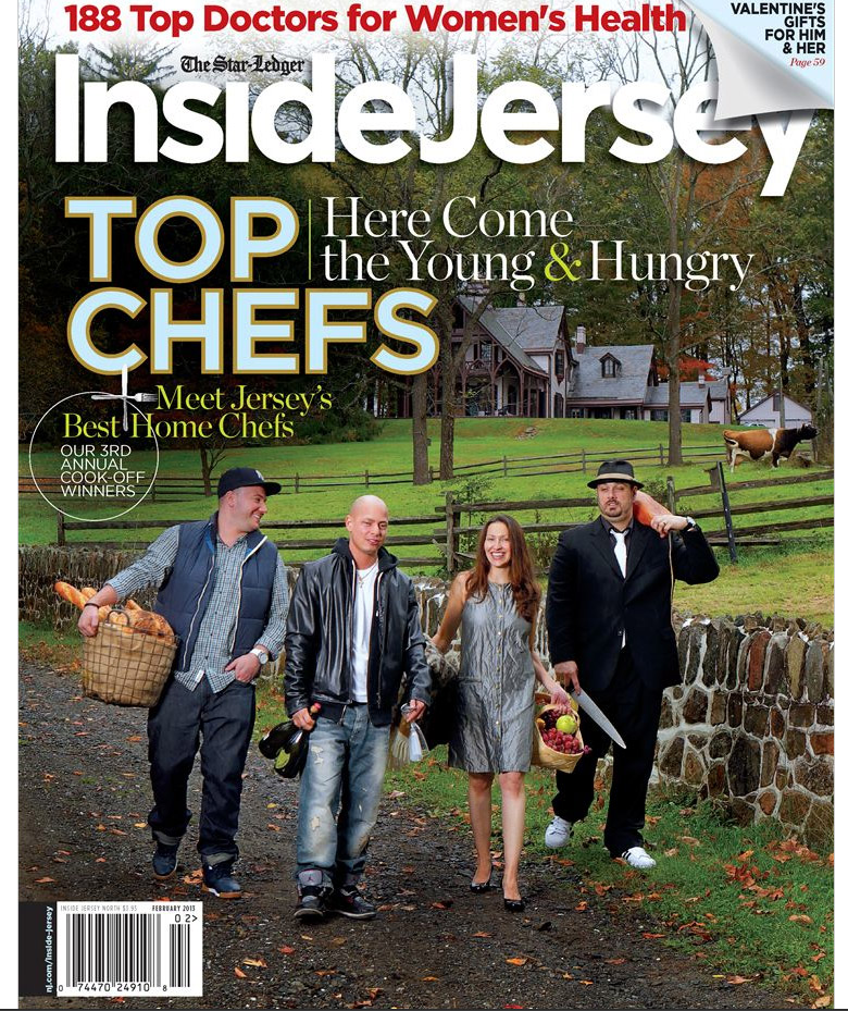 Top chefs magazine cover