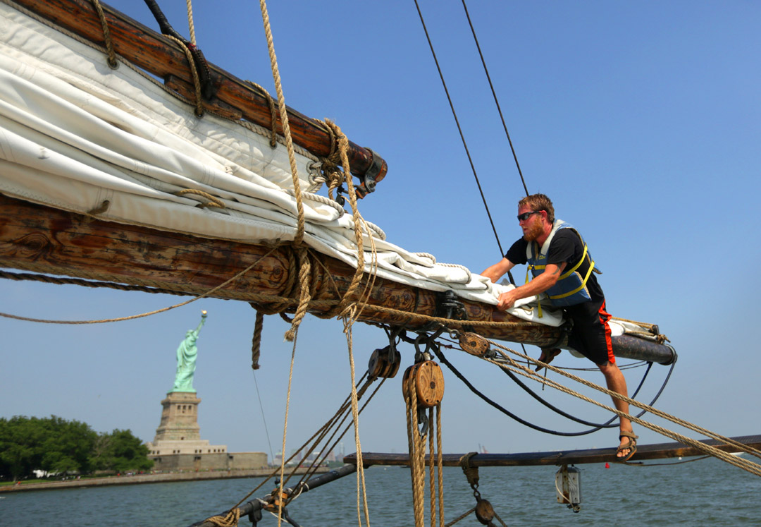 A.J. Meerwald sails New York Harbor