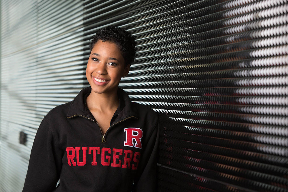 Portrait of Rutgers University student