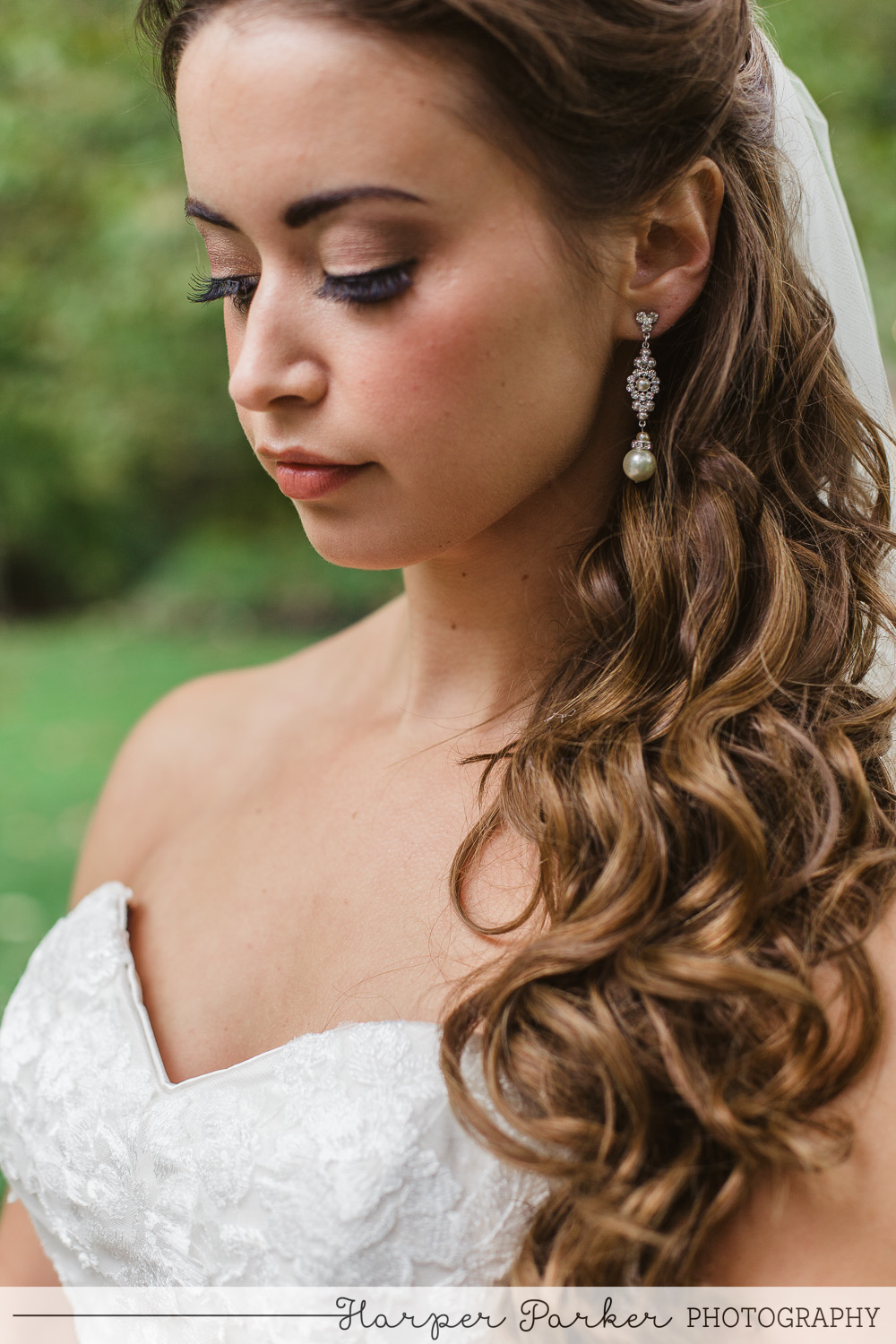 beautiful bride hair and makeup