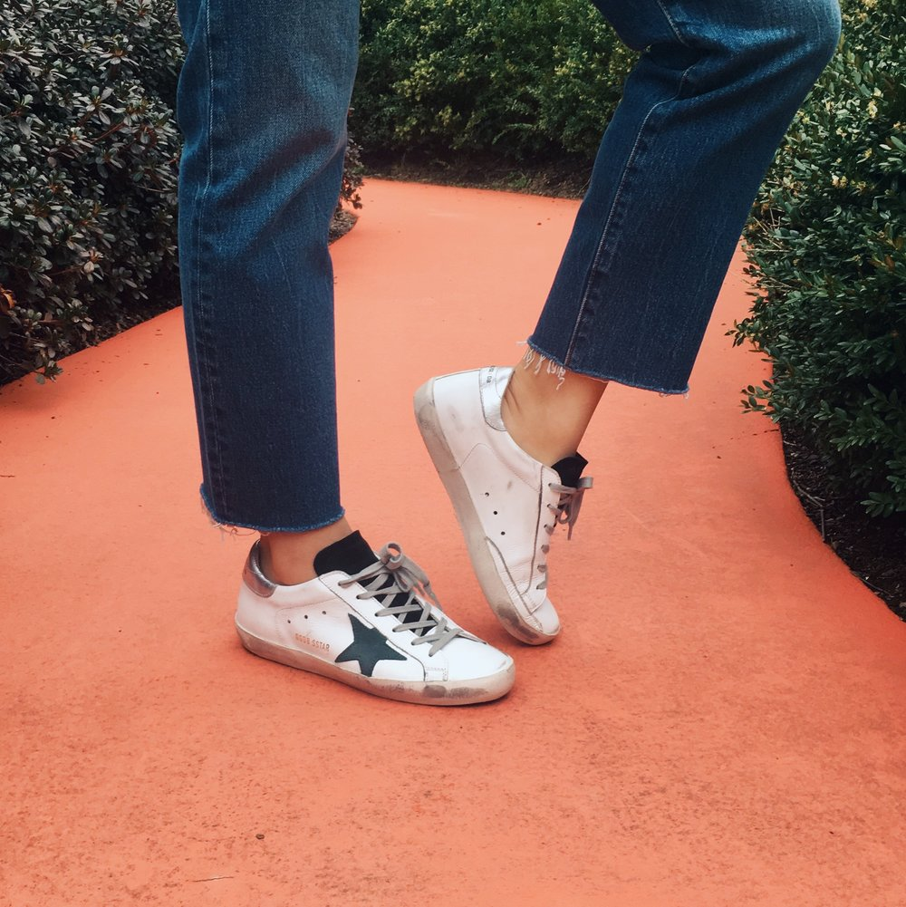 SO HAPPY ABOUT MY NEW SHOES brand: Golden Goose