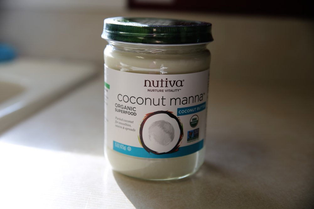 Love using this rich, creamy manna in baked goods to add a little