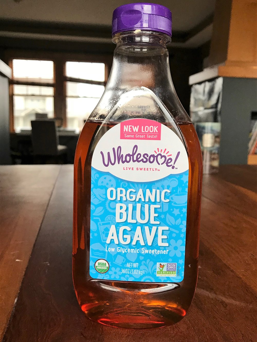 Blue agave - is an alternative to corn syrup with a lower glycemic index...however, local honey and maple syrup are even better options.