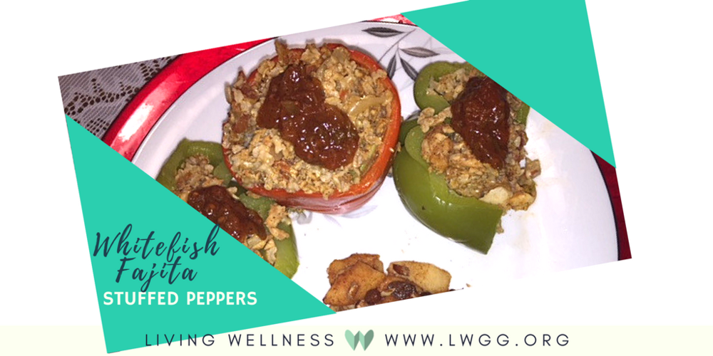 Whitefish Fajita Stuffed Peppers -
